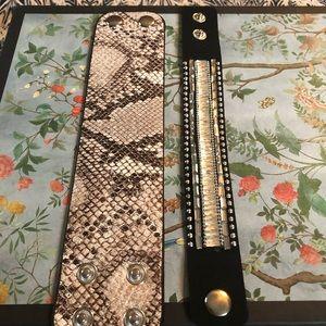 2 single wrap bracelets